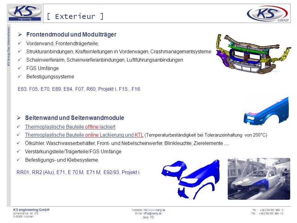[ Exterieur ] Frontendmodul und Modulträger